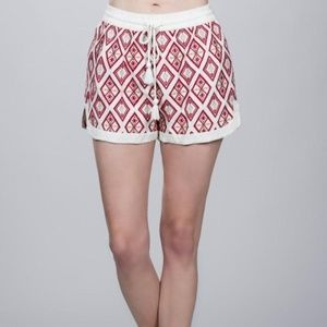NEW Ark & Co Embroidered Drawstring Shorts